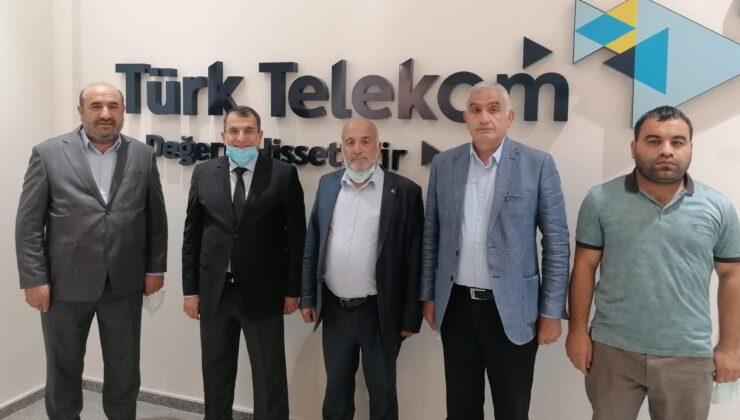 Başkan Kahveci'den Türk Telekom İl Müdürü Ahmet Alevcan'a Hayırlı Olsun Ziyareti