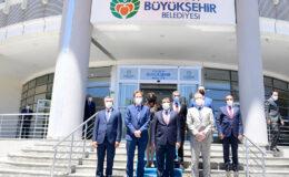 AB Türkiye Delegasyonu Başkanı'nı Makamında ağırlayan Başkan Gürkan